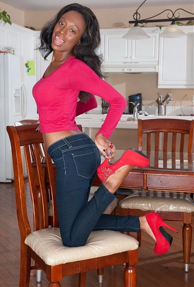 Black model Brandi Foxx