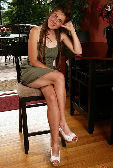 Hairy girl Marlee