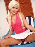 Blonde babe Olivia