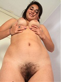 Hairy latina Roxane