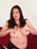 Mature and hairy model Jessica Jay