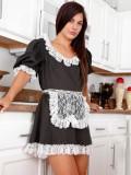 Sexy maid Brooke Benson